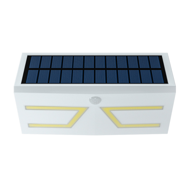 COB Garden Solar Powered LED Wall Light With Pir Sensor Camera Tower System
